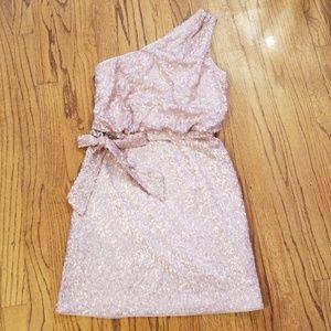 💋aidan💋 Blush Sequin One Strap Mini